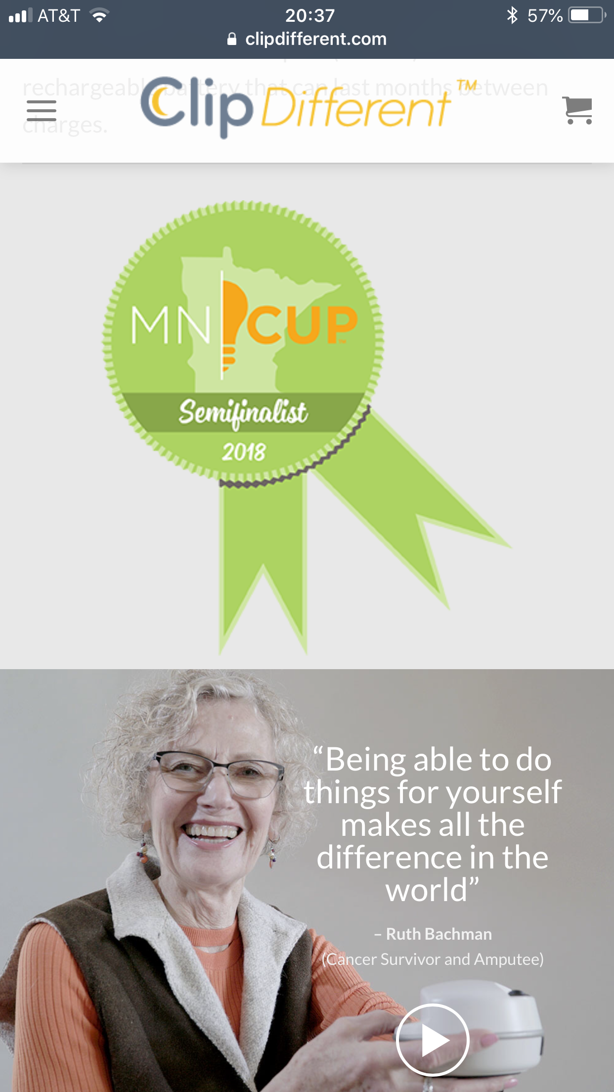 MN Cup Ribbon with Ruth Bachman on Website