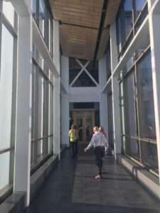Tom Jen Melanie walking Carlson School of Management